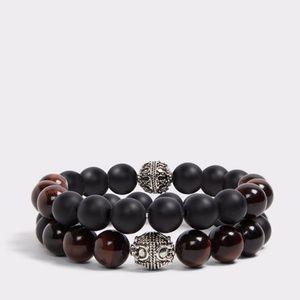 New mens Buompietro brown black bracelet beaded